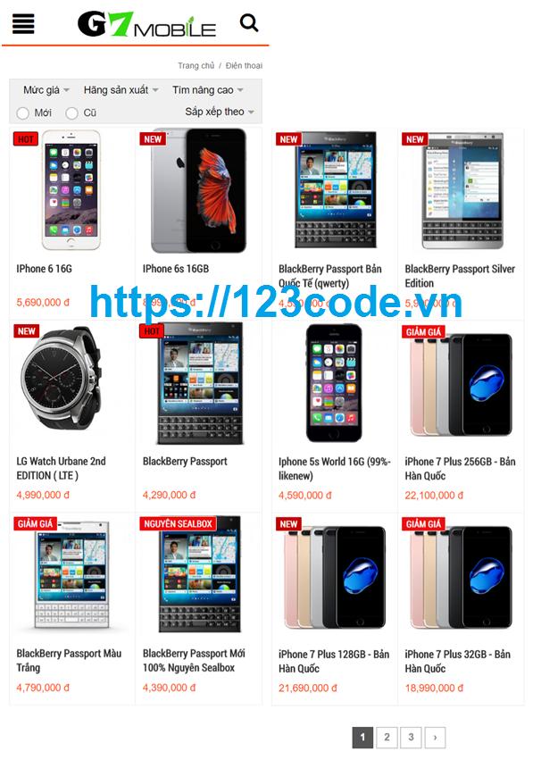 Tải source code website bán hàng công nghệ trên Android có báo cáo