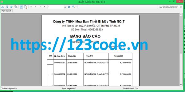 Tải code quản lý cửa hàng bán máy tính c# với đầy đủ tính năng