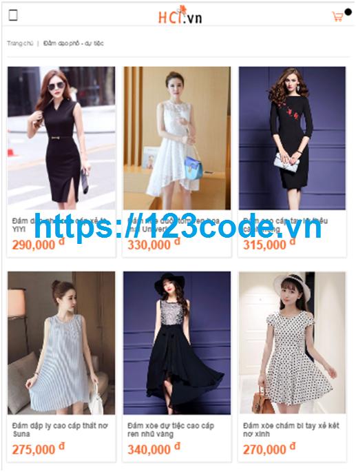 Tải source code Website bán hàng thời trang trên iOs, HTML5, Javascript