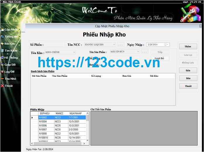 Tải source code phần mềm quản lý kho VB.NET có báo cáo kèm theo
