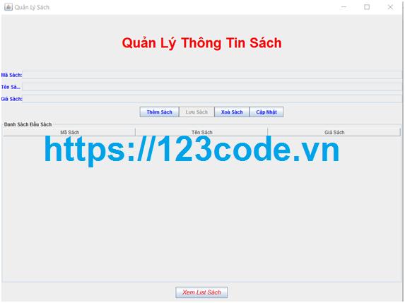 Tải source code quản lý bán sách java đầy đủ code và báo cáo