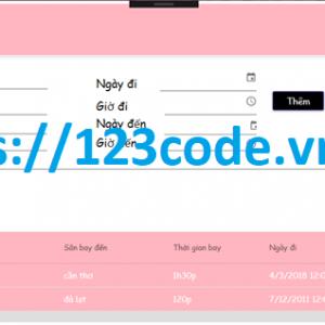Tải source code quản lý bán vé máy bay c# - Wpf full báo cáo