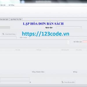 Tải source code quản lý nhà sách c# với đầy đủ tính năng cực hót 2