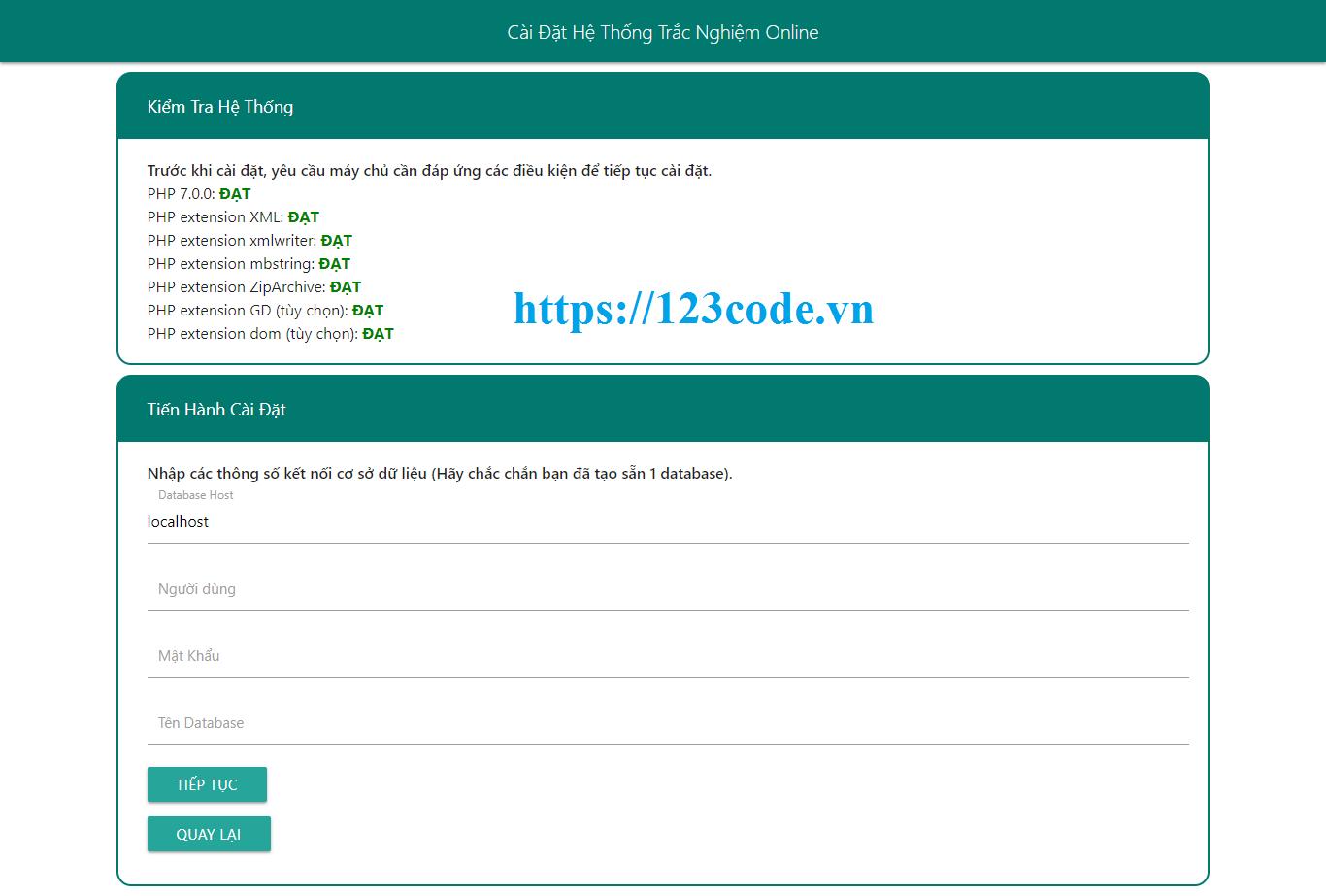 Tải source code trắc nghiệm online PHP đầy đủ code và database