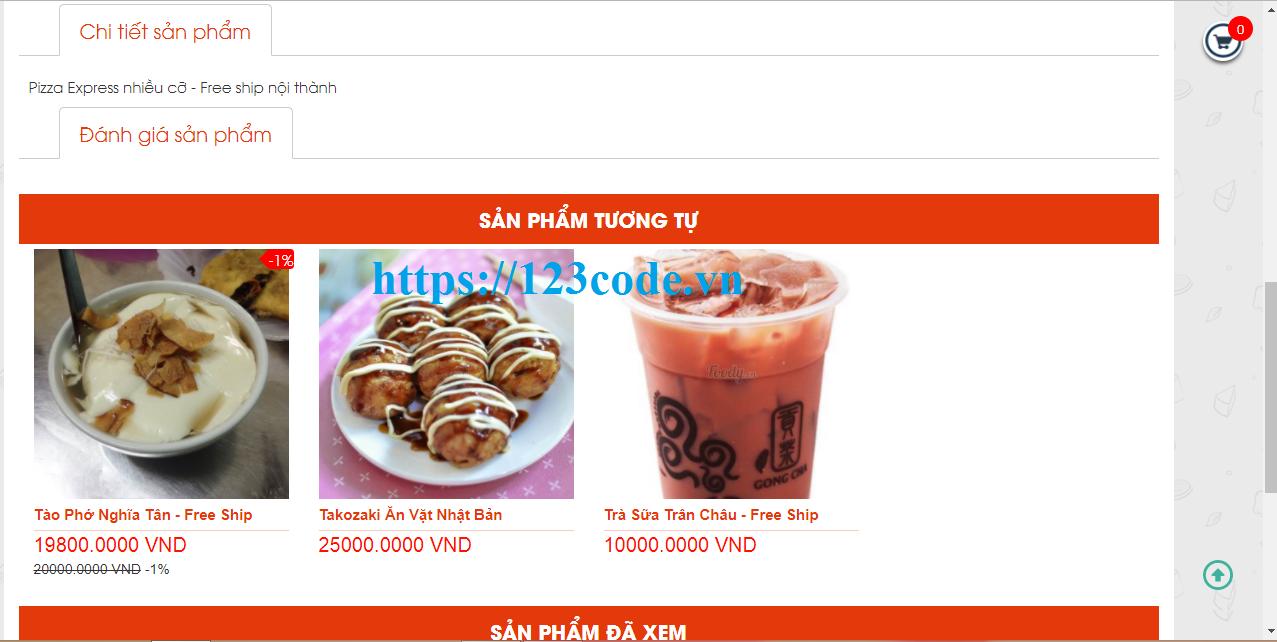 Tải source code website bán đồ ăn nhanh asp.net có database
