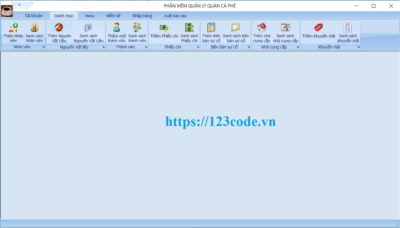Tải phần mềm quản lý quán cafe - cà phê code c# có báo cáo
