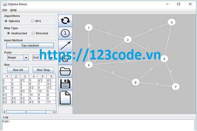 Tải source code Vẽ Graph trên Java đầy đủ báo cáo