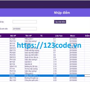 Tải source code phần mềm quản lý sinh viên viết bằng java có báo cáo