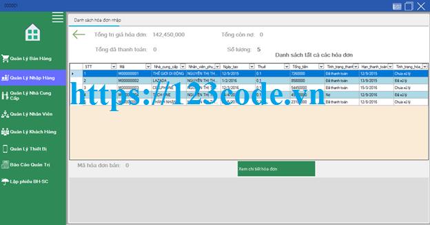 Tải source code phần mền quản lý bán hàng viết bằng c# có báo cáo