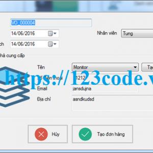 Tải source code quản lý bán hàng viết bằng c# có báo cáo