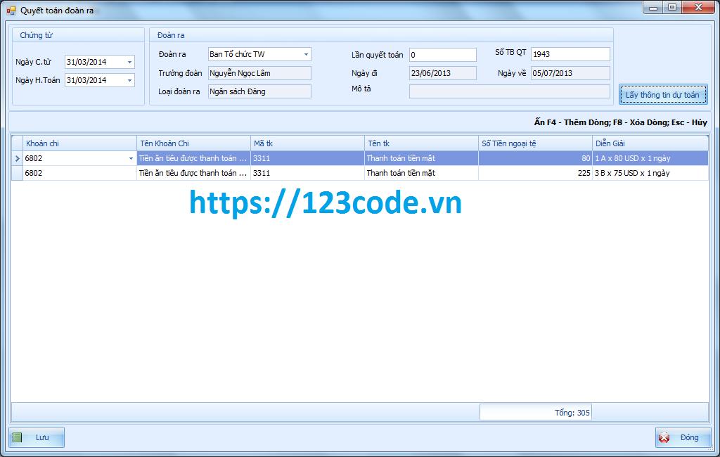 Tải source code quản lý dự toán c# có đầy đủ code và báo cáo