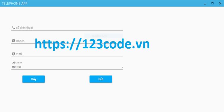 Tải source code app quản lý đặt xe viết bằng java