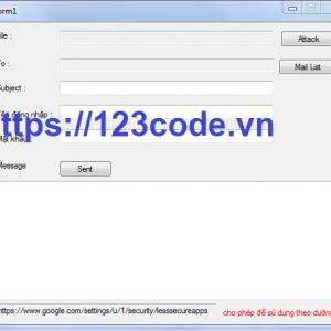 Code phần mềm gừi mail hàng loạt c# tải miễn phí