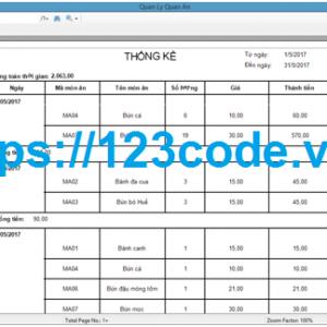 Tải source code hệ thống quản lý quán ăn c# có báo cáo kèm data1