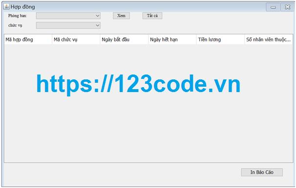 Tải source code phần mềm quản lý nhân sự java có báo cáo