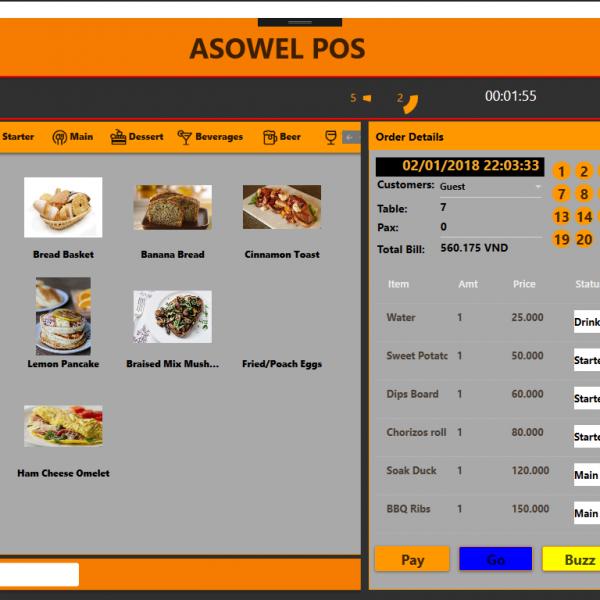 Tải source code quản lý nhà hàng c# - Wpf có báo cáo