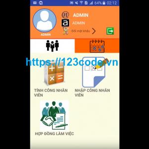 Code App quản lý nhân viên java android full code
