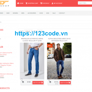 Code shop bán hàng php - lavarel tải miễn phí