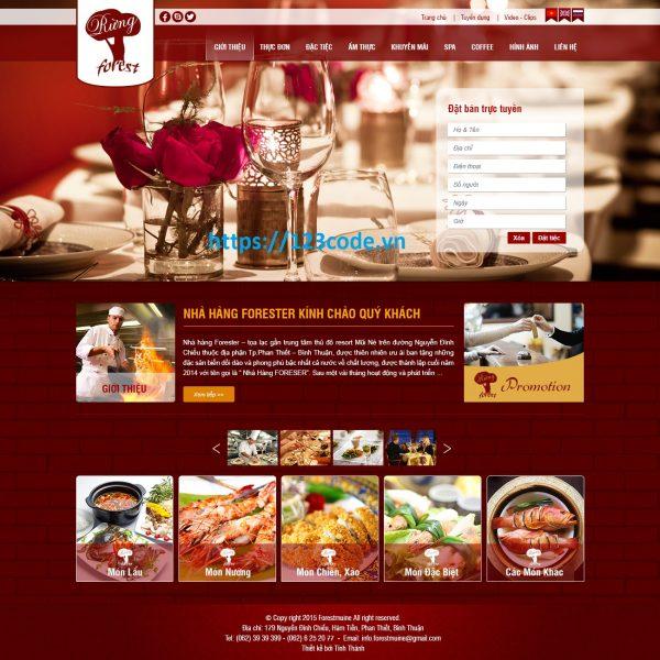 Code website quản lý nhà hàng asp.net - mvc full code, data