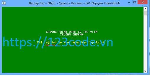 Phần mềm quản lý thư viện c++ giao diện cực đẹp
