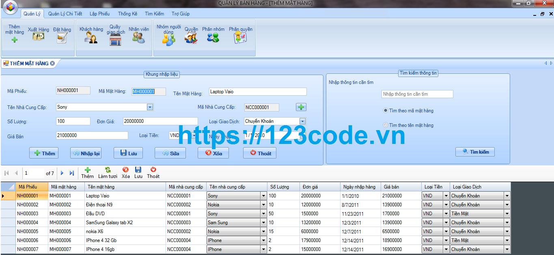 Tải phần mềm quản lý bán hàng c# full code và báo cáo