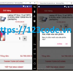 code App quản lý bán hàng java android có báo cáo