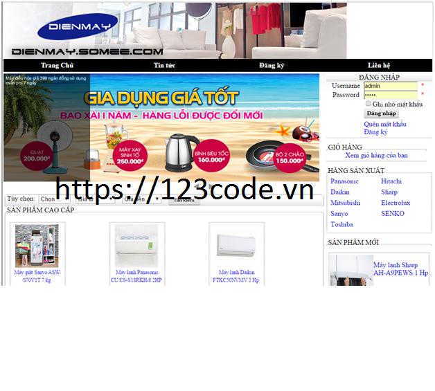 Code website bán hàng trực tuyến ASP.NET MVC có báo cáo
