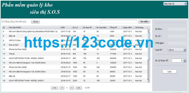 Source code đề tài quản lý kho siêu thị java full báo cáo`1