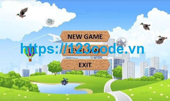 Source code game bắn vịt java có báo cáo kèm theo
