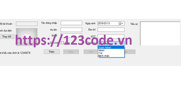 Source code quản lý phòng khám c# tải miễn phí