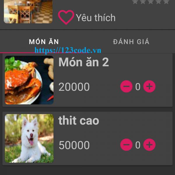 Tải App quản lý quán ăn và đặt hàng java full chức năng