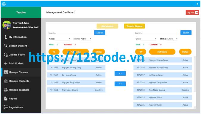 Tải source code phần mềm quản lý sinh viên c# - Wpf có báo cáo