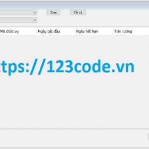 Tải source code quản lý nhân sự viết bằng java có báo cáo