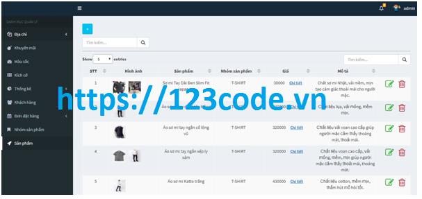 Tải source code website bán hàng php thuần có báo cáo kèm theo