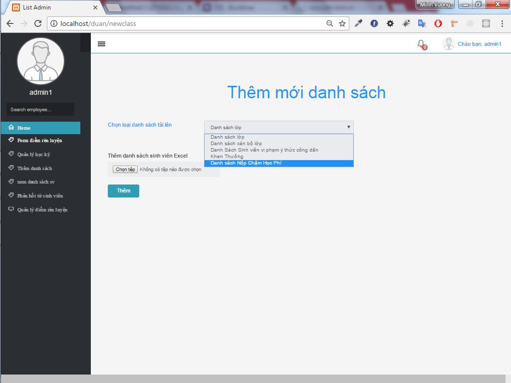 Source code website quản lý sinh viên thực tập php lavarel full code