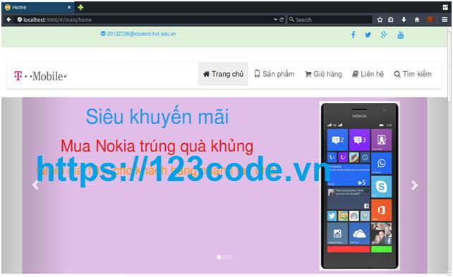 Tải source code giới thiệu sản phẩm và bán hàng trực tuyến Angular JS