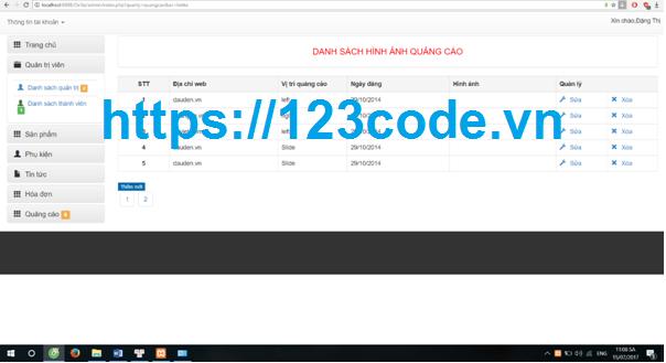 Báo cáo kèm code website bán hàng điện tử php thuần