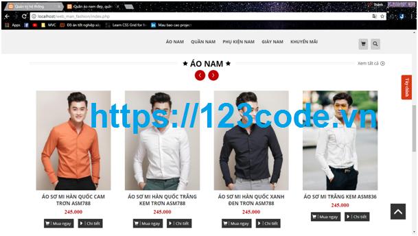 Báo cáo và code website bán hàng quần áo php thuần