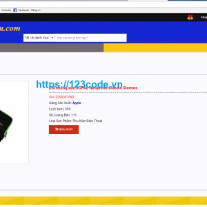 Code php thuần website bán hàng điện tử full code và database 1