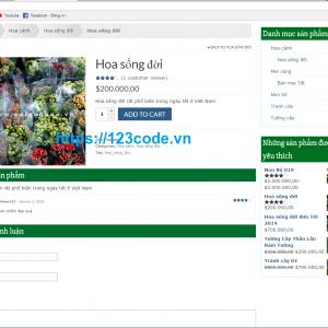 Full source code website bán hoa wordpress cực đẹp