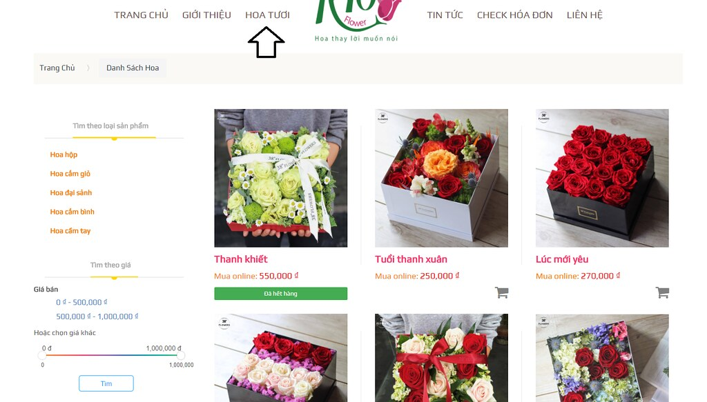 Tải source code website bán hoa php có đầy đủ code và data