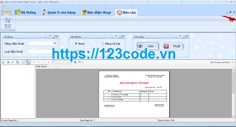 Báo cáo kèm source code quản lý bán hàng điện thoại c# có database 1