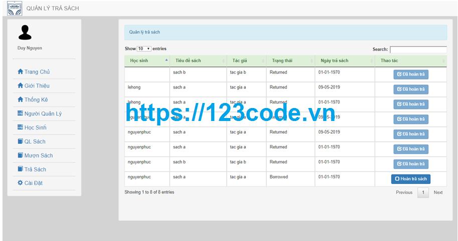 Báo cáo tốt nghiệp website quản lý thư viện trường học php full database