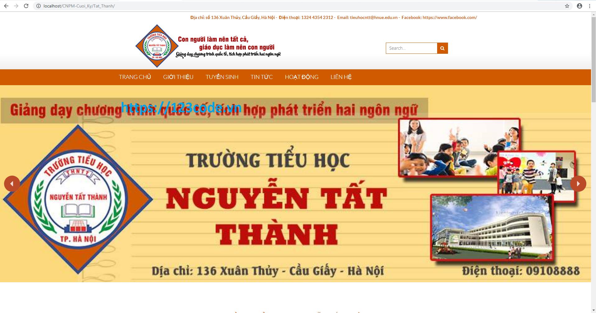 Full source code website giới thiệu trường học wordpress có hướng dẫn