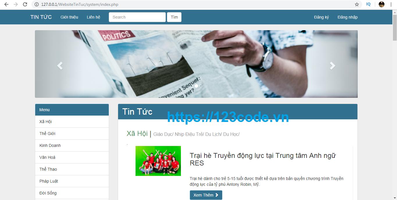 Full source code website tin tức php thuần chuẩn seo