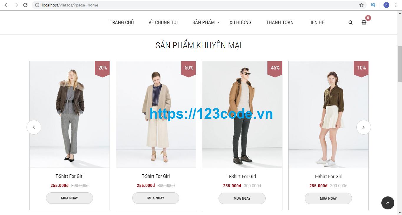 Share full source code website bán hàng php chuẩn seo giao diện đẹp 2