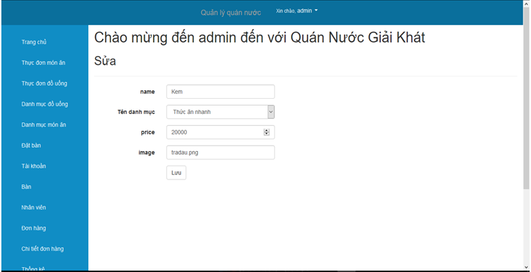 Share source code kèm báo cáo hệ thống quản lý quán nước asp.net - mvc