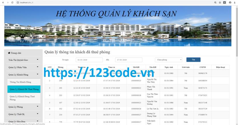 Source code đồ án tốt nghiệp quản lý khách sạn php kèm báo cáo