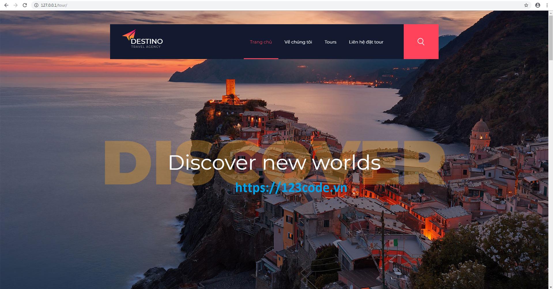 Source code PHP quản lý tour du lịch đầy đủ database và cài đặt