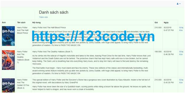 Source code bán sách online asp.net - mvc kèm báo cáo